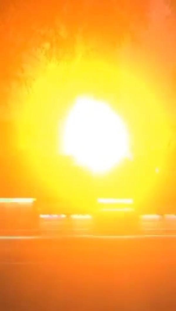 북한 혜산 지역 폭발 사고 영상