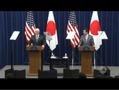 펜스 미 부통령, 아베 총리와 공동기자회견