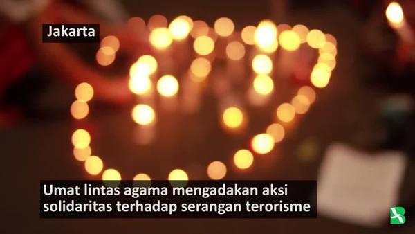 Aksi Solidaritas Lintas Agama Terhadap Serangan Terorisme
