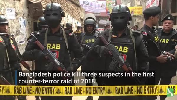 Bangladeshi Police Kill 3 Suspects in Counter-terror Raid