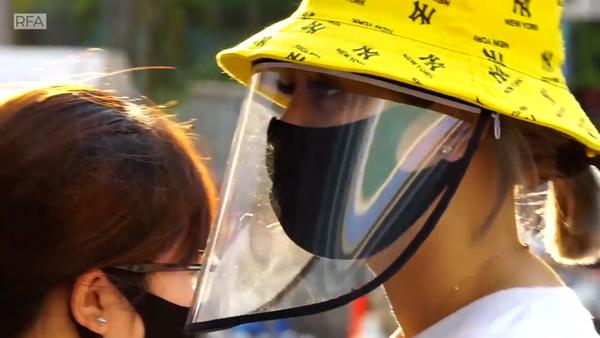 Anti-Coronavirus Visors a Hot Item in Saigon