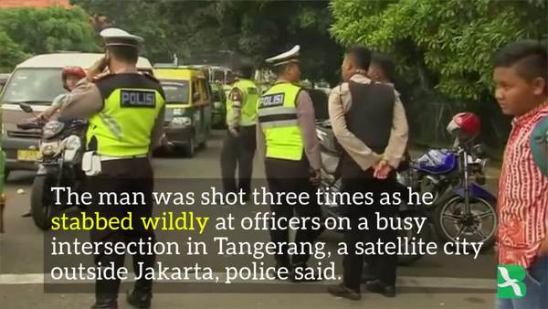Indonesia: Suspected IS Supporter Killed After Attacking Cops