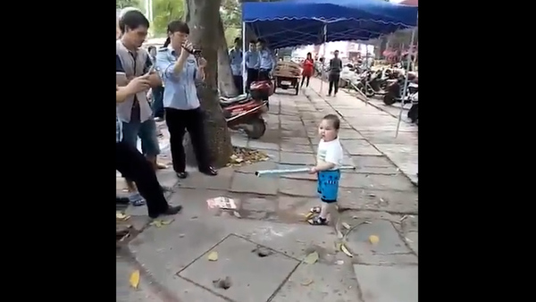 Angry Three-year-old Defends Family Against Local Officials