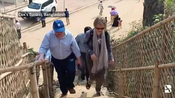 UN Leaders Visit Rohingya Camp in Bangladesh