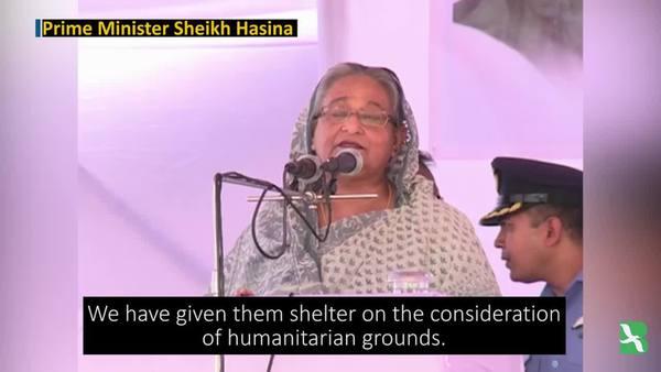 Bangladesh's PM Pays First Visit to Rohingya Refugees