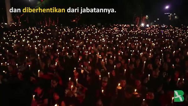 Ribuan Lilin Untuk Ahok