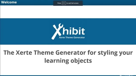 Thumbnail for entry Xhibit App: Theme Generator for Xerte