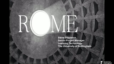 Thumbnail for entry ROME Project
