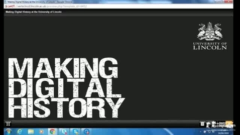 Thumbnail for entry Making Digital History