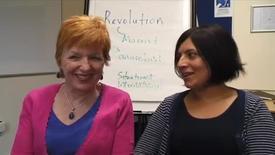 Sue Pryce and Gulshan Khan - Winners of Political Student Association teaching awards