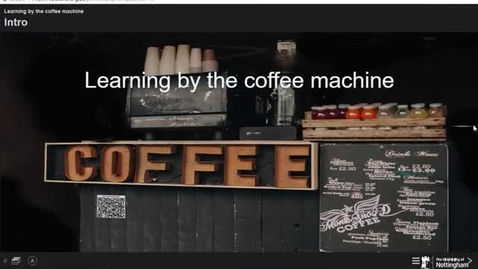 Thumbnail for entry Learning by the coffee machine