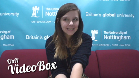 Thumbnail for entry How did you feel when you got into Nottingham? | #UoNVideoBox