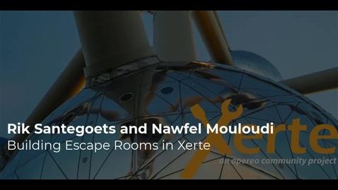 Thumbnail for entry Rik Santegoets and Nawfel Mouloudi - Build an escape room in Xerte
