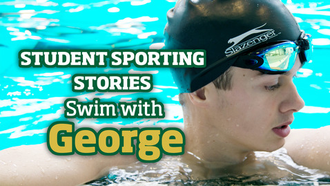 Thumbnail for entry Student Sporting Stories | Pool with George
