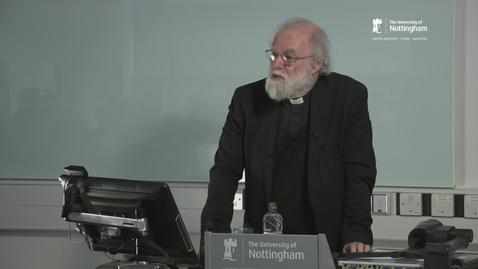 Thumbnail for entry Firth Lectures 2016: Dr Rowan Williams - Imagining Faith; perceptions of religious belief in modern writing - Part 2