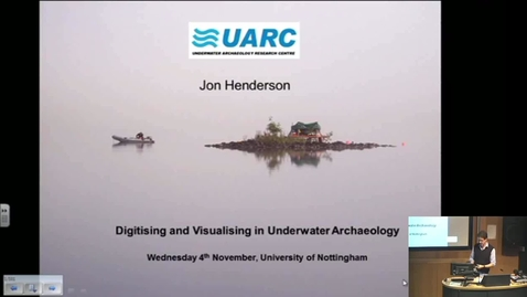 Thumbnail for entry Jon Henderson (Humanities) – underwater archaeology, e-learning community November 2015