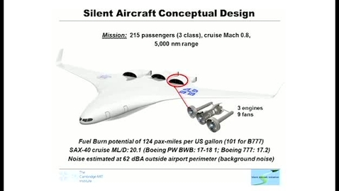 Thumbnail for entry Towards A Silent Aircraft - Professor Dame Ann Dowling