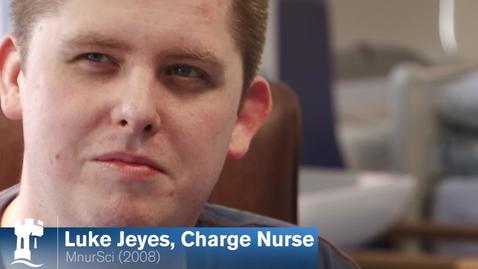 Thumbnail for entry Luke Jeyes - Nursing Alumnus - Master of Nursing Science 2008