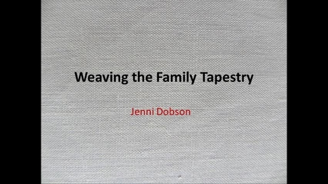 Thumbnail for entry Nottinghamshire's People: Weaving My Family Tapestry