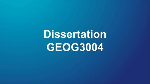Thumbnail for entry GEOG3004 Dissertation