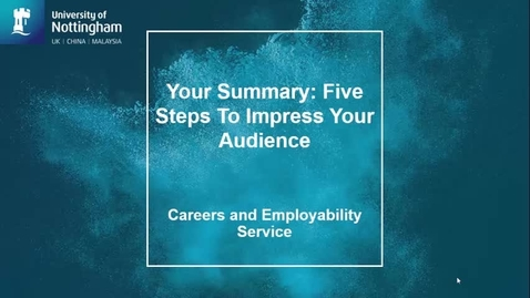 Thumbnail for entry LinkedIn: Your Summary