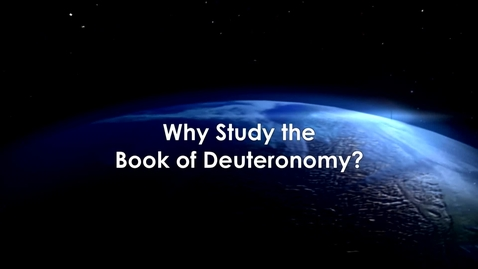 Thumbnail for entry Why Study The Book of Deuteronomy with Carly Crouch