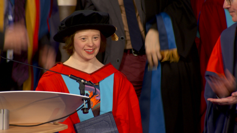 Thumbnail for entry Honorary Graduate 2018 - Sarah Gordy - Dr of Laws