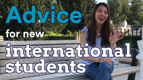 Thumbnail for entry Vlog: Advice for new international students