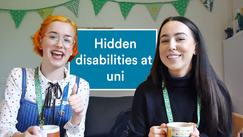 Thumbnail for entry Vlog: Living with a hidden disability at university