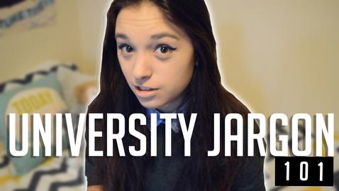 Thumbnail for entry Vlog: Uni jargon buster 101