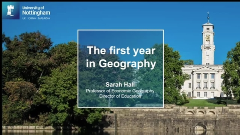 Thumbnail for entry Geography 1st year programme