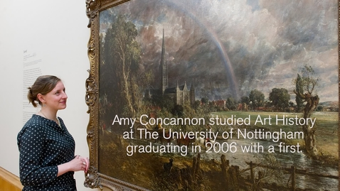 Thumbnail for entry Art History student lands her dream job