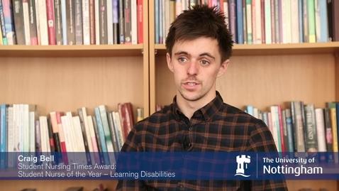 Thumbnail for entry The University of Nottingham 'Student Nursing Times' student award winners
