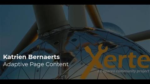 Thumbnail for entry Katrien Bernaerts - Adaptive Page Content