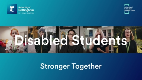 Thumbnail for entry Disabled Students - Stronger Together