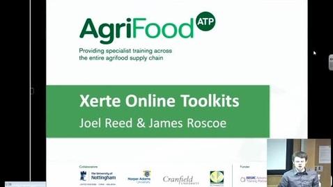 Thumbnail for entry January 2014 E-Learning community - James Roscoe (Biosciences) and Joel Reed (Harper Adams University) - Xerte Online Toolkits
