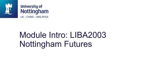 Thumbnail for entry LIBA2003 Nottingham Futures