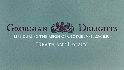 Thumbnail for entry Georgian Delights: Curator Tour pt 5 (Death and Legacy)