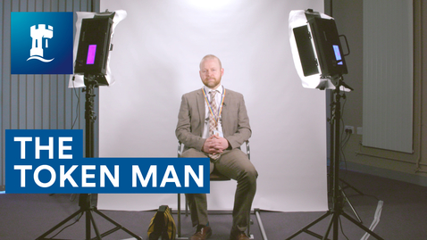 Thumbnail for entry The Token Man | Asking people questions as the camera moves closer to their face | Andy Winter