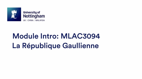 Thumbnail for entry MLAC3094 La République Gaullienne