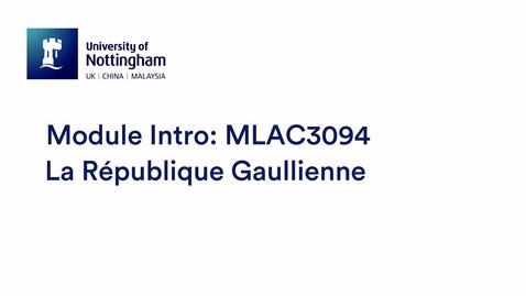Thumbnail for entry MLAC3094 La République Gaullienne