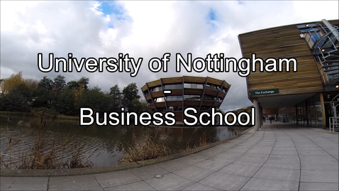Thumbnail for entry Vlog: Day in the Life - Business School