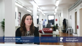 Thumbnail for entry Nottingham Internship Scheme - Developing the skills for working life