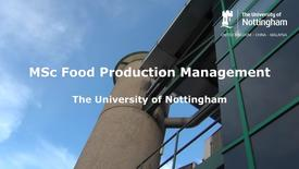 MSc Food Production Management