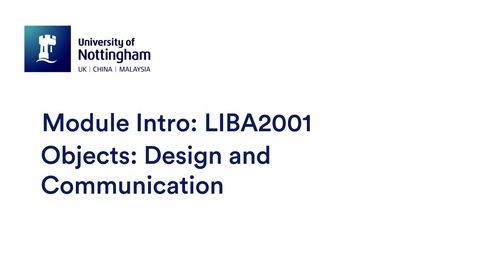 Thumbnail for entry LIBA2001 Objects: Design and Communication