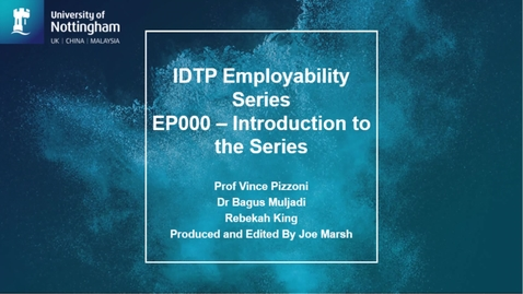 Thumbnail for entry Introduction to Employability Series