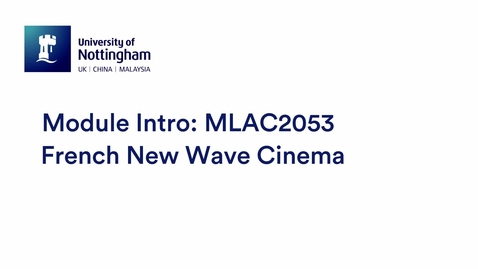 Thumbnail for entry MLAC2053 French New Wave Cinema