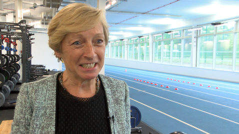 Thumbnail for entry Liz Nicholl: Facilities for elite athletes at University of Nottingham