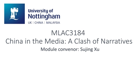 Thumbnail for entry MLAC3184 China in the Media