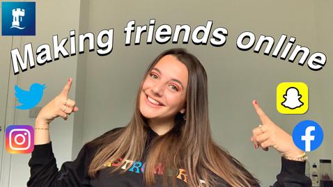 Thumbnail for entry Vlog: Tips for making new uni friends online